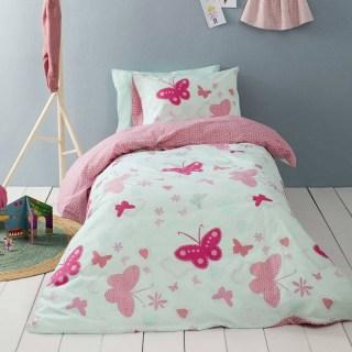 Σετ Σεντόνια Μονά (170x255cm) Nima Kids Butterflies fd1e68abfde